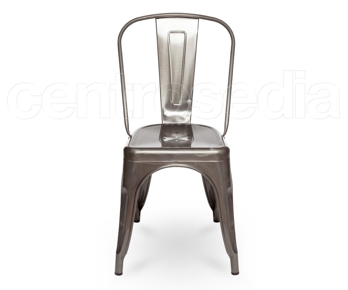 Virginia sedia metallo trasparente sedie alluminio metallo