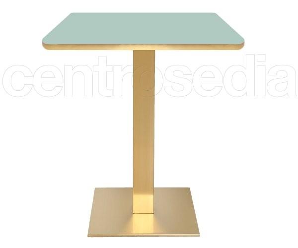 Munich Base Tavolo Acciaio Oro